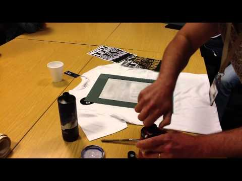 How to print a t-shirt using INKODYE