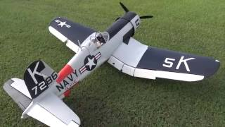 Hangar 9 F4U Corsair 60CC Maiden Flight With FG84