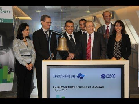 SGBV-Bourse d'Alger et la COSOB ouvrent les marchés européens de NYSE Euronext à Paris