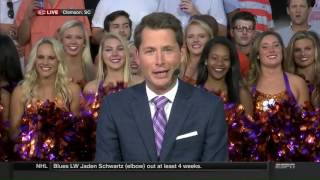 Marty Smith with Clemson Sailing Team on SportsCenter