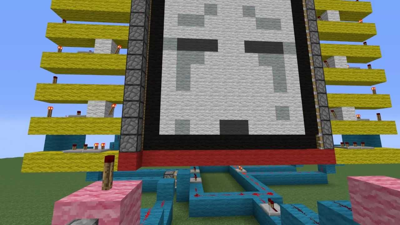 how to make moving picture in redstone
