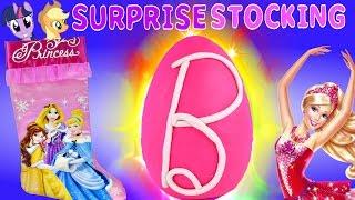 SURPRISE Toy Stocking Disney Princess Giant Barbie Play Doh Egg Frozen MLP Christmas