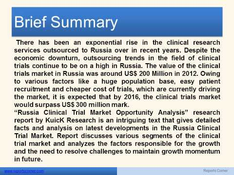Russia Clinical Trial Market Opportunity Analysis - Reports Corner