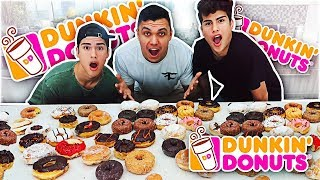 ENTIRE DUNKIN' DONUTS MENU IN 10 MINUTES CHALLENGE!