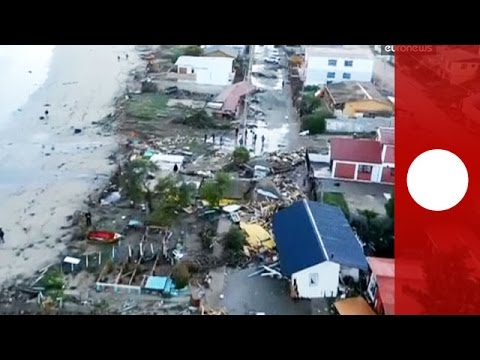 Drone footage shows extent of Chile earthquake destruction