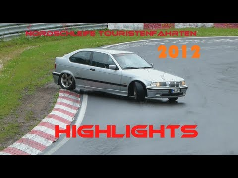 Nordschleife Touristenfahrten 2012 - Highlights (Crashes, Drifts, Fails etc.) - HD