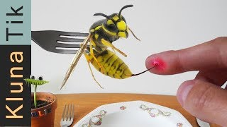 STUNG by a YELLOW JACKET!  Kluna Tik Dinner #81 | ASMR eating sounds no talk