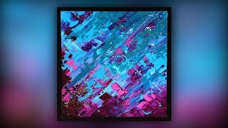 Abstract Painting / Easy & Fun / Acrylics / Palette Knife / Demo #054