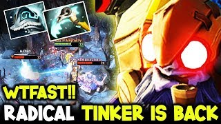 RadicaL Shiva's Tinker Is Back After Vacation WTFAST Hands !! Dota 2