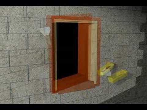 Wet Flash Jeld Wen Window Install In Cmu Wall Youtube