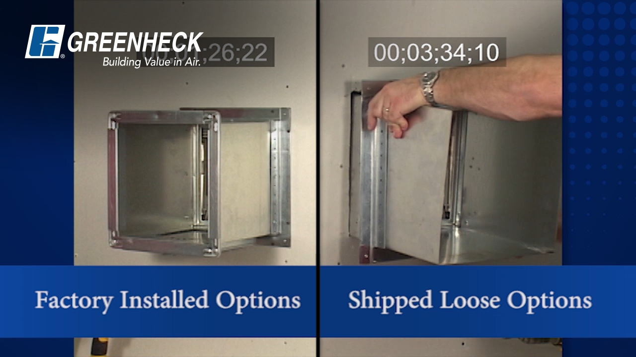 Greenheck Damper Installation Time Savings Youtube