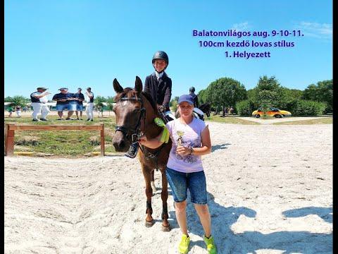 Both Petra és Biotop Bojtorján Balatonvilágos 2019.08.10  - Kezdő lovas 100 cm 1. Helyezett