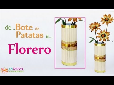 Manualidades florero con material reciclado innova for Como construir pileta de material