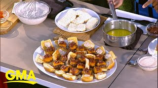 Ryan Scott demos the perfect Memorial Day sliders and hot dog recipe l GMA