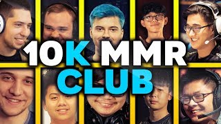10.000 MMR CLUB - ALL 10k MMR Players with their BEST Plays in Dota 2 History