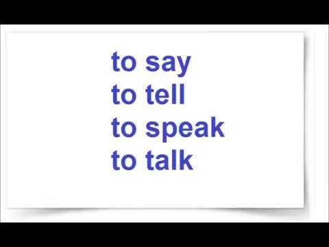Say tell разница