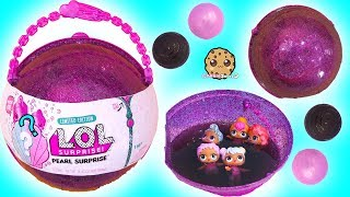 LOL Big Pearl Surprise Blind Bag Ball with Fizz Shell In Water - Toy Video