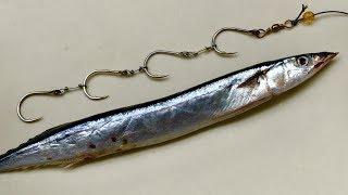 Ganging Big Hooks & Hook Bait - DIY How To Fishing - Cách Treo 4 Móc Câu Cá Lớn
