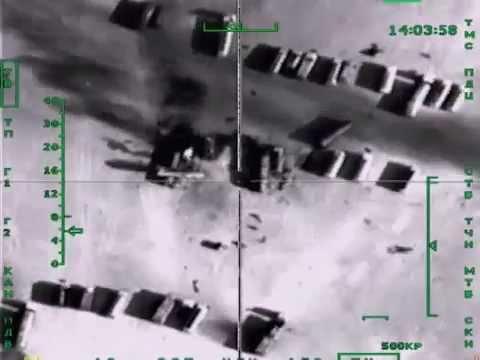 Rusland bombardeert 500 olie vrachtwagens IS in Syrië