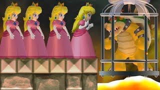New Super Mario Bros. Wii - Multiple Peach's wants to rescue Bowser