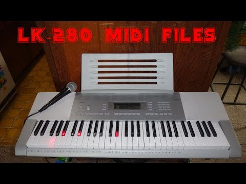 Casio  LK-280 keyboard How to download and Configure Midi files for lesson playback