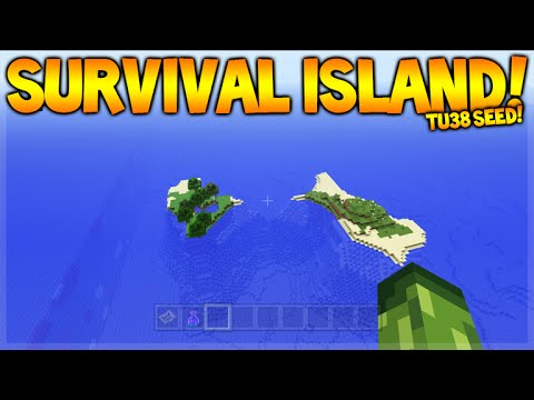 DOUBLE SURVIVAL ISLAND!! Minecraft Console Edition - TU38 Survival Island Seeds (NEW)