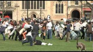 Pillow Fight Flash Mob