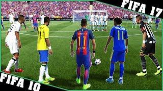 NEYMAR JR free kicks evolution [FIFA 10 - FIFA 17] ⚽