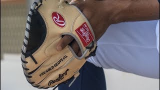 Rawlings Heart of the Hide Pancake Trainer with Francisco Lindor