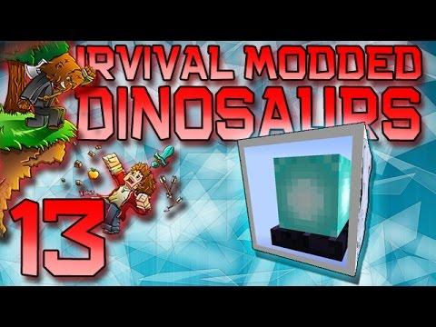 Minecraft: Modded Dinosaur Survival Let's Play w/Mitch! Ep. 13 - LAVA BEACON!