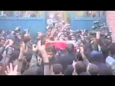 Iran - Tehran 29.11.2011.Pro regime Supporters Basijis attack British embassy - Part 2