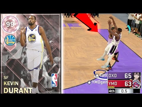 PINK DIAMOND KEVIN DURANT! CONTESTED BUZZER BEATER!! PLEASE DONT MISS THIS SHOT!! NBA 2k18 MyTEAM