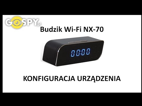 Budzik szpiegowski z kamerą Wi-Fi NX 70 - konfiguracja