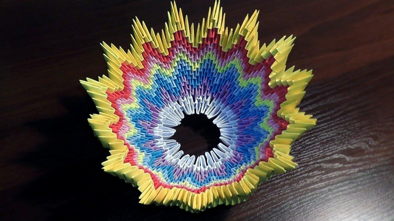 Модульное оригами пошаговая сборка вазы