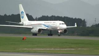 Vladivostok Air Tupolev Tu-204-300 Take off at Shizuoka