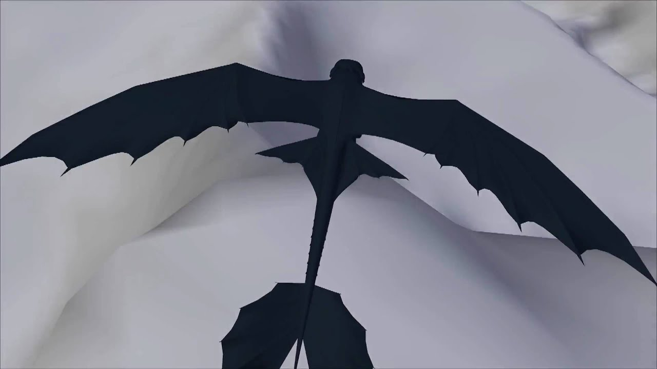 Night Fury Flight Preview 3 WIP - YouTube