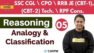Class 05 ||#SSC CGL\CPO\RRB JE ,Technical\RPF || Reasoning || By Priyal Ma'am || Analogy