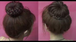 Hairstyles - 2 Kiểu Tóc Tết Búi Donut Siêu Dễ Thương | Yêu Làm Đẹp