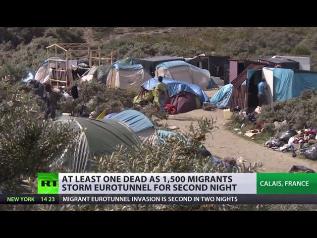 Channel Crossing: 1,500 migrants storm Eurotunnel in France
