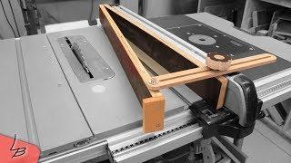Winkelanschlag für die Tischkreissäge | Damit gelingen auch Winkelschnitte | Lets Bastel