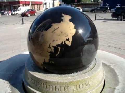 плавающий гранитный шар в Екатеринбурге