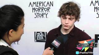 "Evan Peters ""Tate"" Talks ""American Horror Story"" Season 2!"