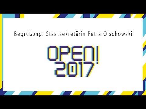 OPEN! 2017 Begrüßung - Staatssekretärin Petra Olschowski