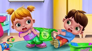 Baby Twins Terrible Tow ❤ Baby Video For Kids By Bong Kids TV [TabTale Game 1]