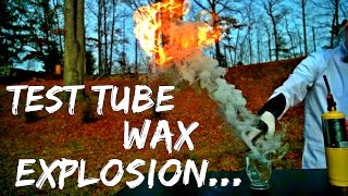 Candle Wax Experiment!! - Explosion in Slow Mo