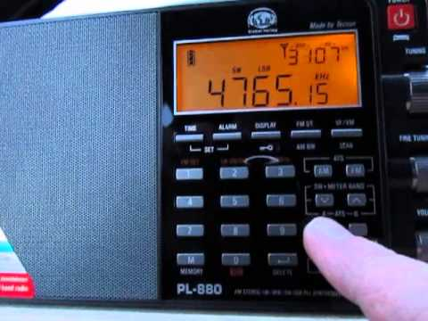 Tecsun PL-880 in AM, SSB, and Sync on 4765 Khz Radio Tajikistan