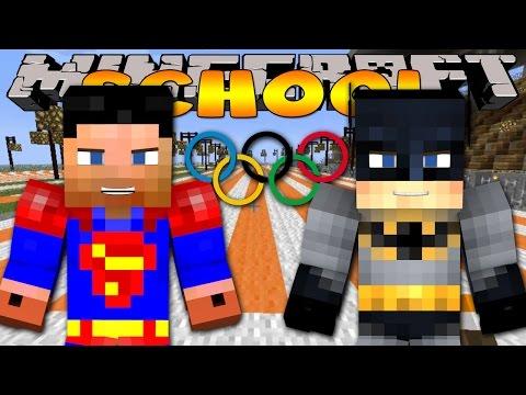 Minecraft School : SUPERHERO OLYMPICS - WHO IS THE BEST??