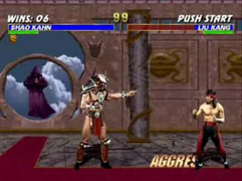 Mortal Kombat Trilogy Shao Kahn VS Liu Kang