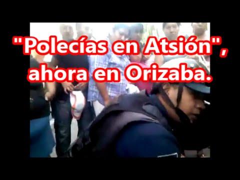 """""""Polecías en Atsión"""" en Orizaba. Golpean a un menor de edad, la gente lo rescata."""