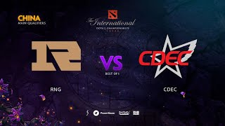 RNG vs CDEC, TI9 Qualifiers CN, bo3, game3 [Adekvat & Lost]